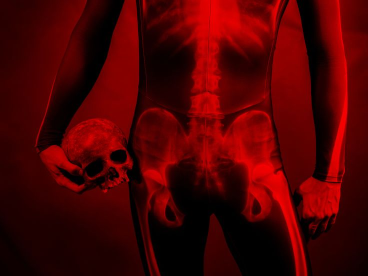 Red death - bones and skull