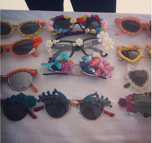 floral glasses...