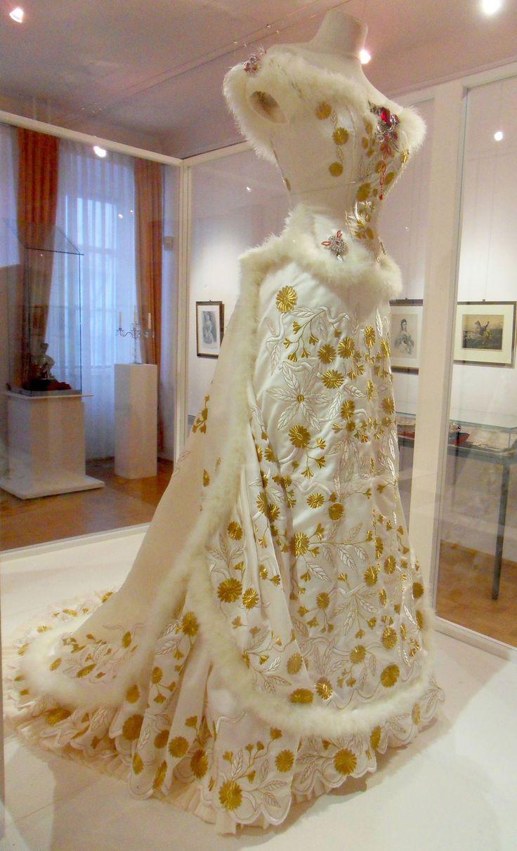 A replica of Empress Sisi's Diamond Wedding Anniversary gown.