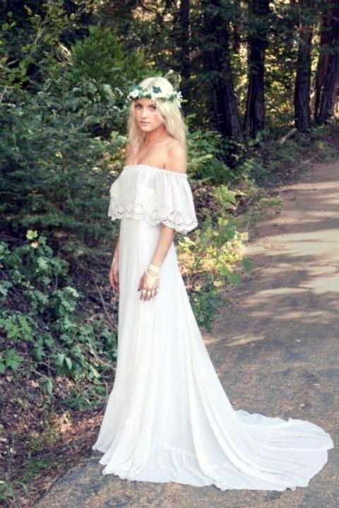 45 beautiful boho chic wedding dresses for Boho dresses for weddings