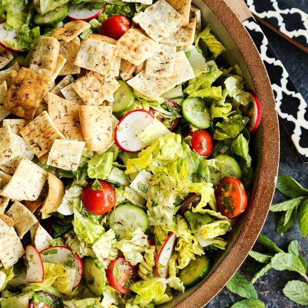 This Fattoush Salad is fresh and bright and flavorful. LOVE!