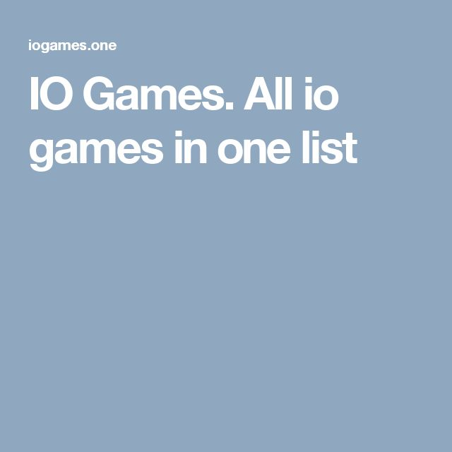 IO Games. All io games in one list