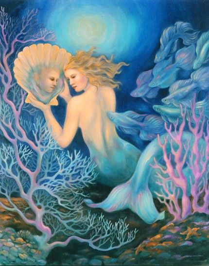 The Mermaid's Mirror by Ethereal Art: Mirror Fantasy, Fantasy Art, Beautiful Mermaids, Art Prints, Mermaids Group Boards, Mermaids Mirror, Magic Fantasy 2, Mermaids Art, Mermaids Mermen