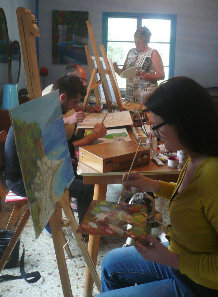 Painting workshops at Metaxart studio, Poros Kefalonia