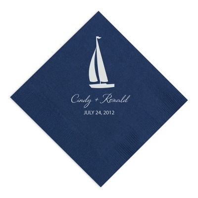 Sailboat Personalized Napkins (Givens Family Reunion - June 28, 2014)