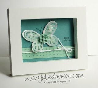 Stampin' Up! Watercolor Wings Mini Framed Art #stampinup www.juliedavison.com