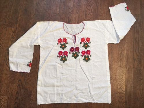 Embroidered Mexican Blouse- Small Flowers $27.00 Free shipping US
