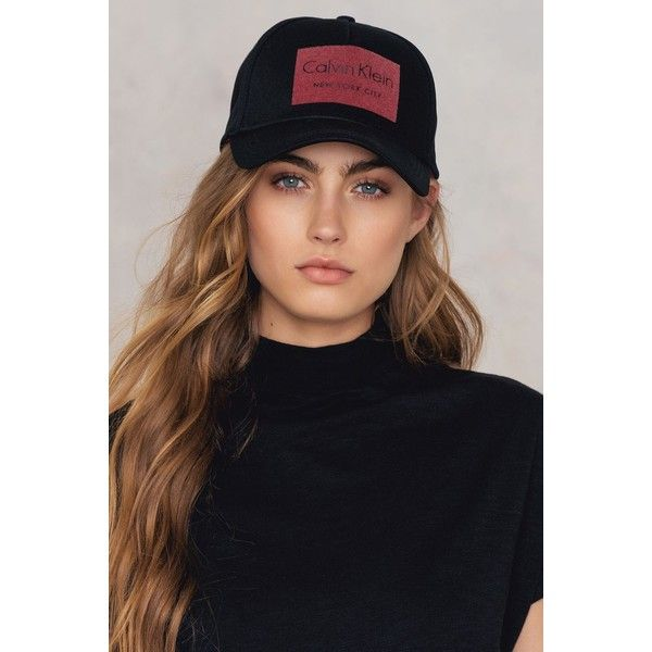 Calvin Klein CK Jeans Baseball Cap ($44) ❤ liked on Polyvore featuring accessories, hats, black, baseball hat, adjustable baseball hats, snap back cap, calvin klein hat and round brim hats