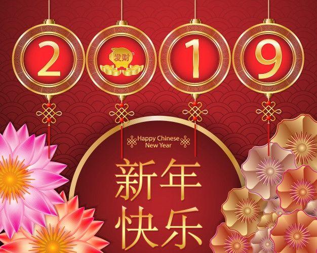 Nouvel An Chinois 2019 Avec Le Zodiaque Du Cochon Cœur De Point De