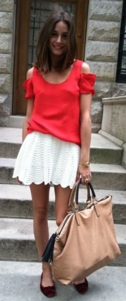 cut-out blouse and full mini skirt #lessismore #stylesocietal