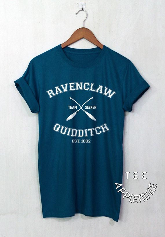 Ravenclaw Quidditch shirt Team t shirt Harry Potter Clothing tee unisex t-shirt size S to 2XL, Funny gift idea for HP Fans.  SIZE TABLE:  S - Chest
