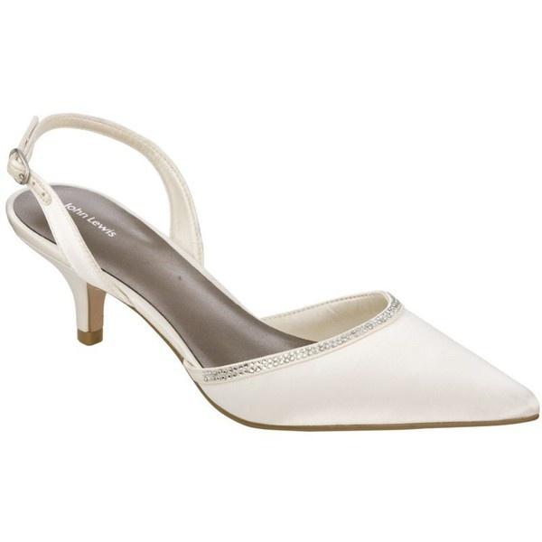John Lewis Issy Kitten Heel Bridal Shoes, Ivory, 5 (72