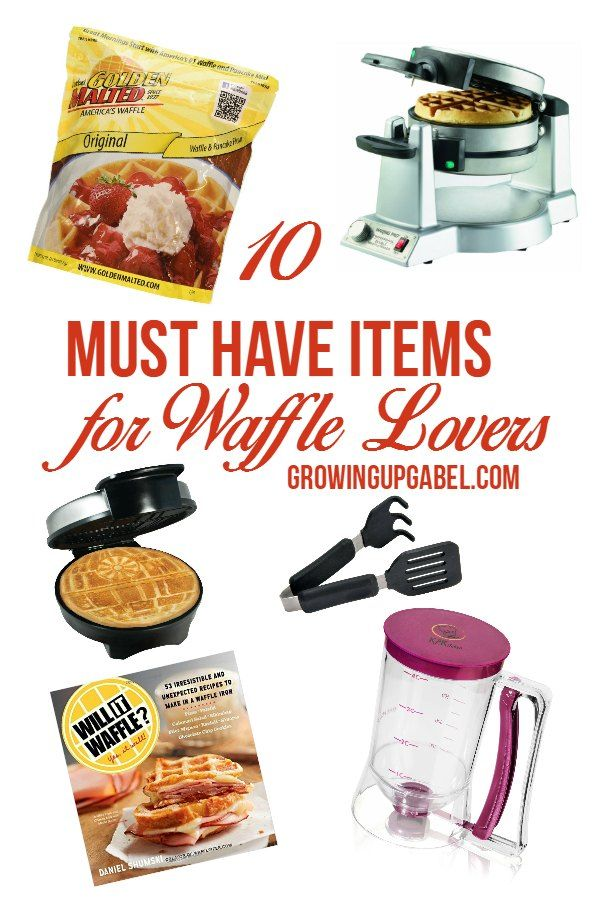 Love waffles? Then check out these must have items for making waffles! From fun waffle makers, to the best waffle mix, to tools to make the process easier, these items will take your waffle making to new levels!