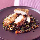 Een heerlijk recept: Kippenbouten met hartige linzenragout van Ainsley Harriott