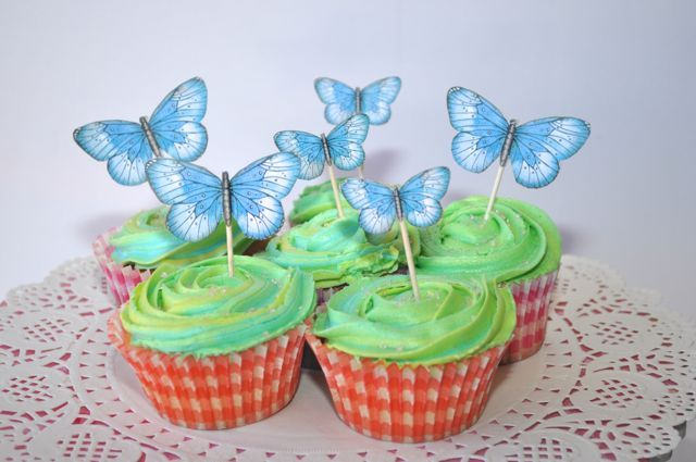 Cupcake toppers By Kelly-ann Oosterbeek ... Butterflies available at Etsy... https://www.etsy.com/au/listing/192636657/sky-blue-printable-butterflies-in-3?ref=shop_home_active_5