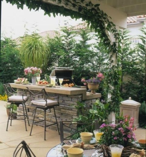 Best Outdoor Barbeque Area Ideas On Pinterest Patio Ideas - Backyard barbecue design ideas