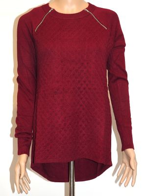 IMPRINT EMMA BURGUNDY JUMPER  A$55.00  wink collection - Knitwear at winkcollection.com.au