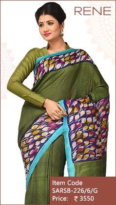 #Reneindia #Green #Batik #Print #Trendy #Ethnic #Kolkata # Westbengal #Bengli #Bengalee #Handloom #Silk #Ethnicwear #Saree available on #Flipkart #Snapdeal #Paytm