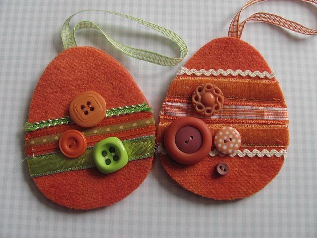 Felt  Easter ornaments
