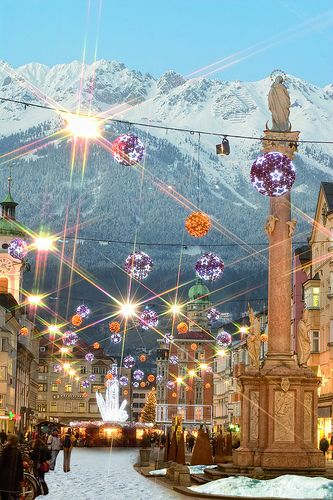 Innsbruck, Austria #ridecolorfully: Christmas Time, Austrian Christmas, Buckets Lists, Christmas Markets, Beautiful Places, Travel, Innsbruck Christmas, Christmas Marketing, Innsbruck Austria