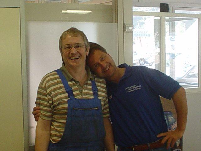 Roland und Friedl bei der Arbeit