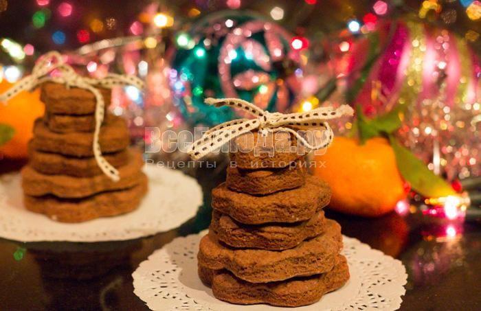Подарочное печенье на новый год