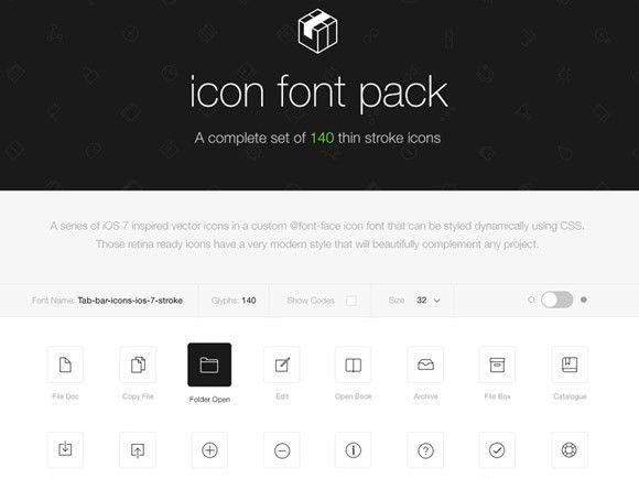Stroke 7 icon font