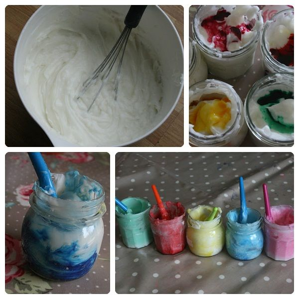 Pintura de dedos comestible http://www.pequeocio.com/pintura-para-dedos-comestible/