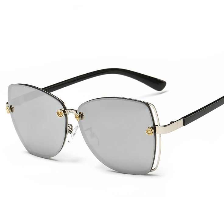 Personnalité Flat Color Film Lunettes De Soleil Female Tide Big Box Flat Reflective Sunglasses Lunettes,A1
