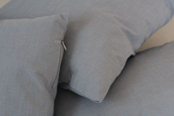 Set of 4, Decorative Grey Pillow Cover Set, Living Room, Bedroom on Etsy, $43.00