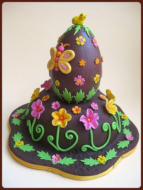 Uova Torta di Pasqua (lato) / Pascua pastel de huevo (vista lateral)