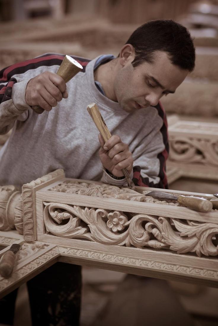 Wood carving, Metsovo, Greece
