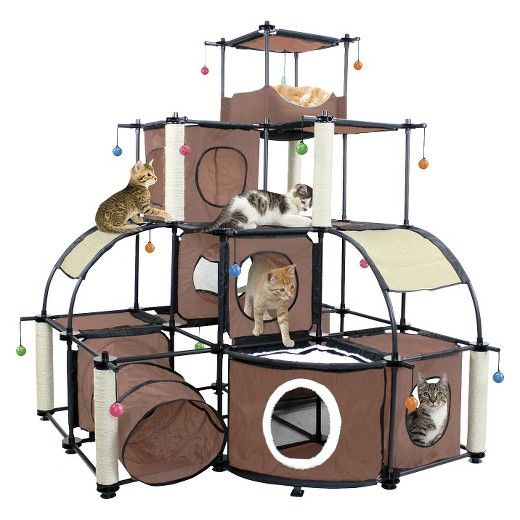best 20 cat play tower ideas on pinterest cat towers. Black Bedroom Furniture Sets. Home Design Ideas