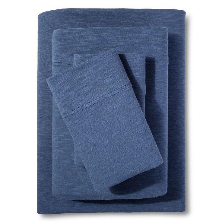 Organic Jersey Sheet Set Metallic Blue (Cal King) - Threshold