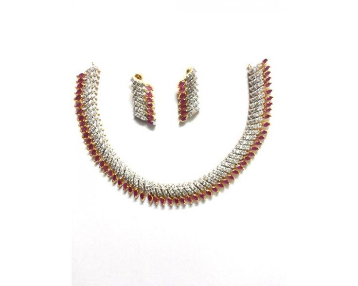 American Diamond Necklace AD2011
