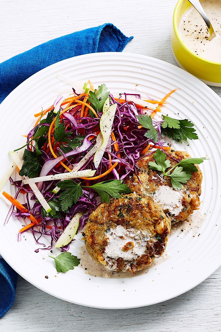 Healthy eating doesn't have to be boring and these wonderfully spiced pork patties are one of our top low calorie picks! Just serve with a fresh red cabbage and pear slaw for a satisfying meal.
