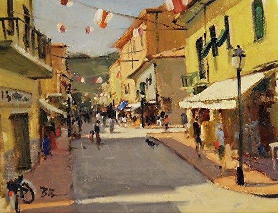 Marina di Campo, Elba, Italy by Brian Blood Oil ~ 11 x 14