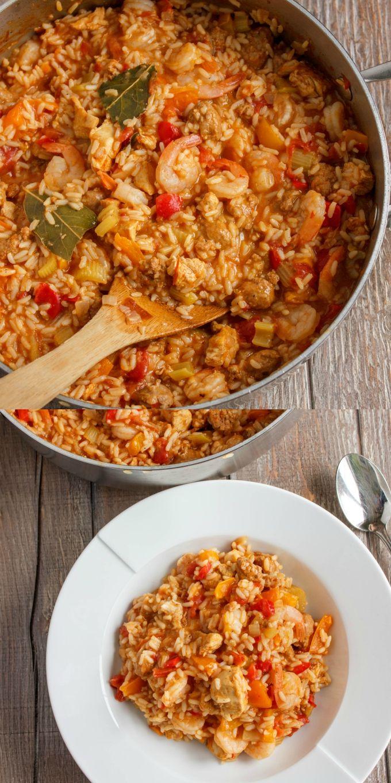 Easy Jambalaya Recipe   #dinner #jambalaya #healthy   http://thecookiewriter.com