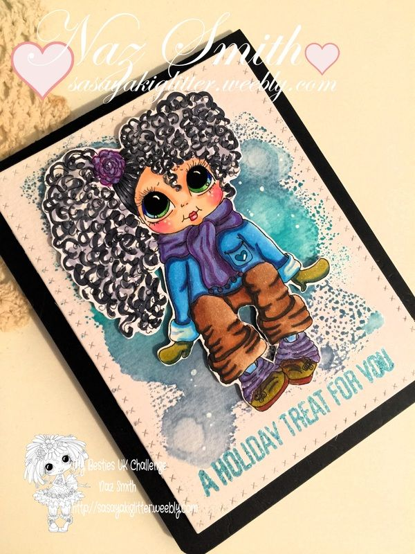 This is my project using another cute image from My Besties by Sherri Baldy.