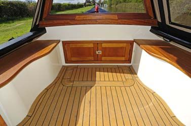 Beautiful bow decking on a narrowboat