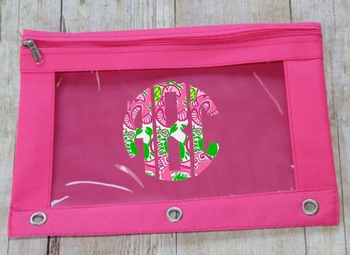 Lilly Pulitzer Monogrammed Pencil Pouch Lilly by TGNCreations