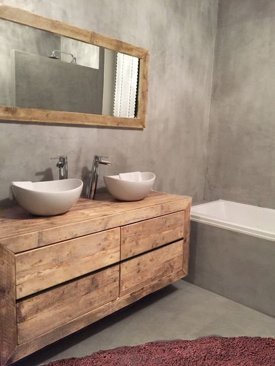 14 best Baños images on Pinterest | Bathroom, Half bathrooms and ...