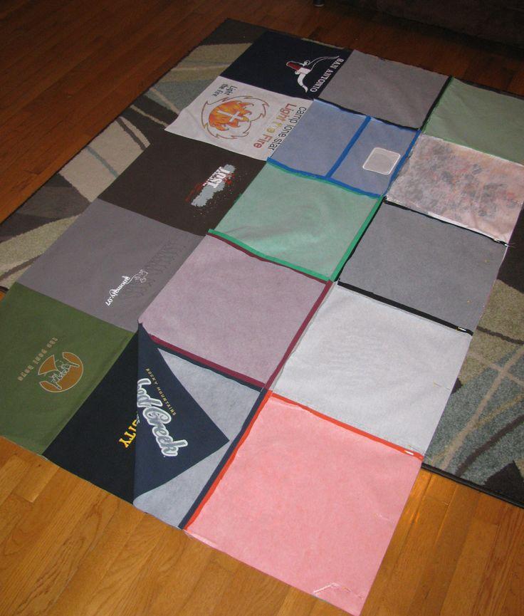 Diy basic tshirt quilt tutorial part 1 totally