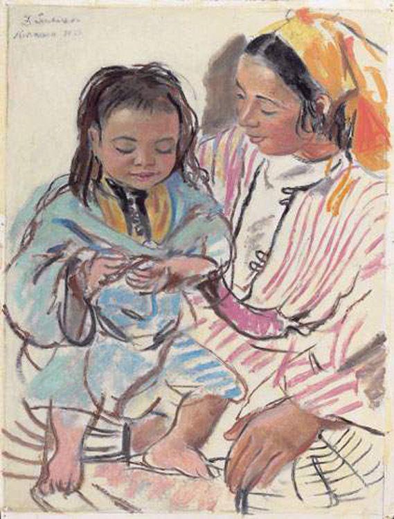 Mother and daughter, 1928 - Zinaida Serebriakova