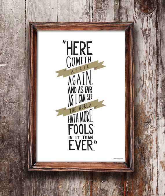 A4 Charles Lamb Quote Print by OldEnglishCo on Etsy, £12.50  This motivational quote print is perfect for those who love Charles Lamb. This illustrated print with the hand drawn quote would look fantastic in any home, study or kitchen.