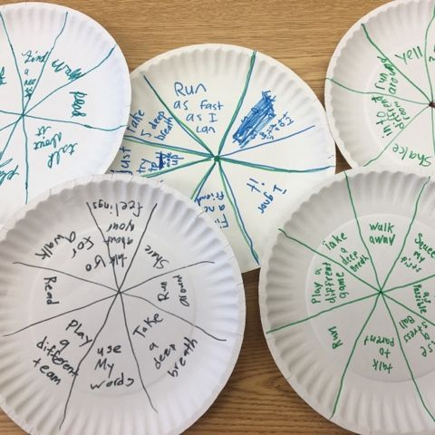 "School Counseling from A-Z created ""coping frisbees"" for a small group lesson:)"