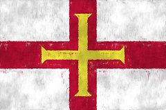 Guernsey Flag Art - Flag of Guernsey by World Art Prints And Designs