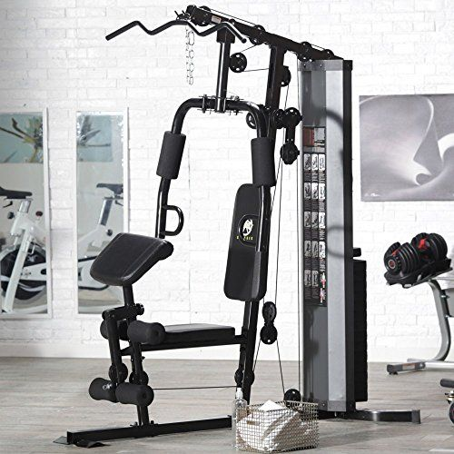 Cool marcy marcy 150 lbs stack gym bowflex home workout for Home designs by marcy