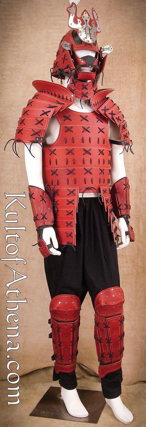 Samurai Leather Armor - Full Set - Red