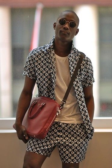 African Men's fashion & style i love this look! the print is awesome!